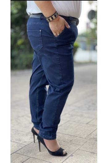 Макси дънки в син деним и камъчета /размери 50,52,54,56/ Модел: 839