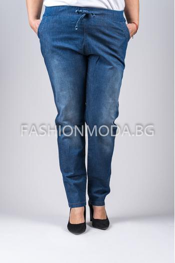 Дънков макси панталон /размери 56,58,60,62,64/