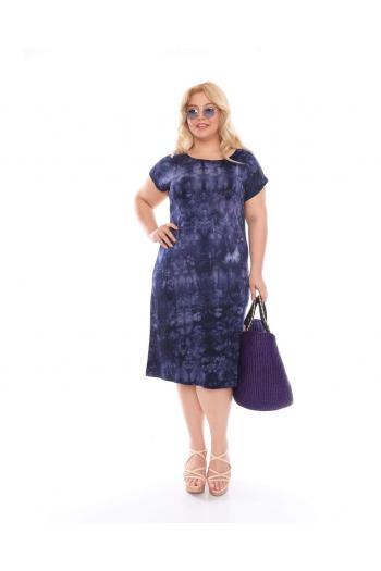 Макси рокля в цвят индиго /размери 2XL,3XL,4XL/ Модел: 523