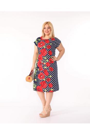 Свежа макси рокля на макове /2XL,3XL,4XL/ Модел: 323