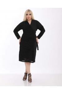 Елегантна рокля с колан /размери 2XL,3XL,4XL/ Модел: 555