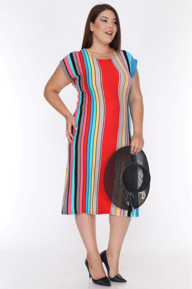 Пастелна рокля  /размери 2XL,3XL,4XL/ Модел: 367