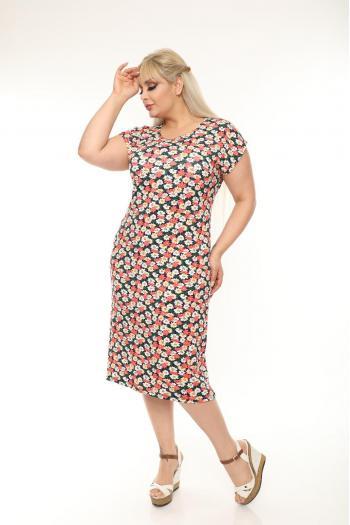 Кокетна макси рокля.  /размери 2XL,3XL,4XL/ Модел: 402