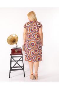 Свежа макси рокля на кръгове /2XL,3XL,4XL/Модел:148