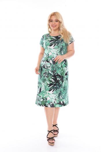 Лятна рокля в красив цветен десен /размери 2XL,3XL,4XL/ Модел: 528