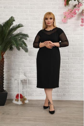 Изящна макси рокля с  тюл /размери 2XL,3XL,4XL/ Модел: 287