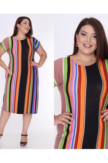 Лятна макси рокля  райе /размери 2XL,3XL,4XL/ Модел: 304