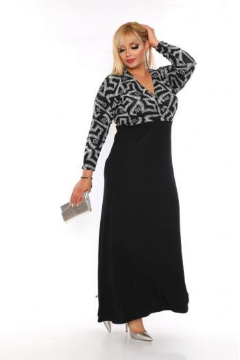 Макси дълга рокля /размери 2XL,3XL,4XL/ Модел: 385