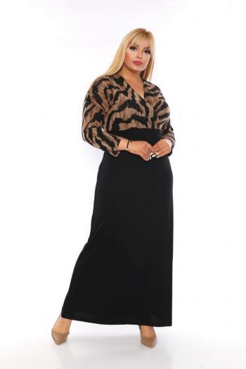 Рокля с леопардов принт /размери 2XL,3XL,4XL/ Модел: 320