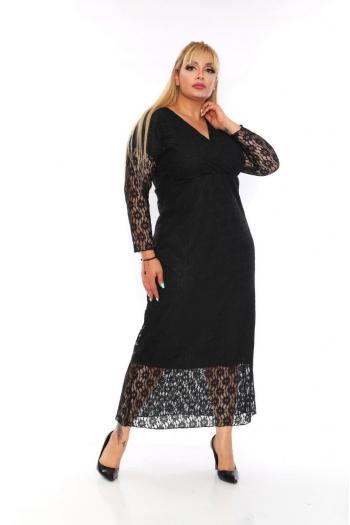 Елегантна дантелена рокля /размери 2XL,3XL,4XL/ Модел: 395