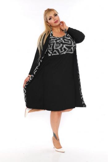 Макси рокля в красив принт. /2XL,3XL,4XL/ Модел: 348