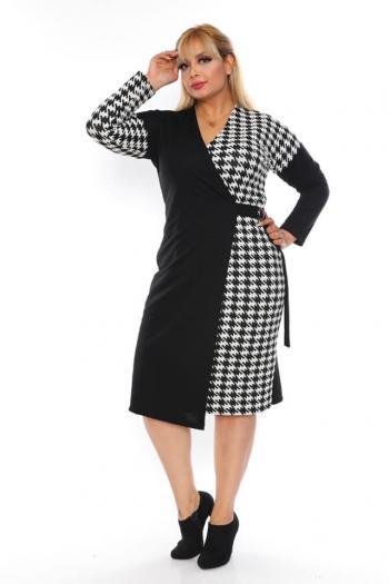 Елегантна макси рокля с колан /размери 2XL,3XL,4XL/ Модел: 381