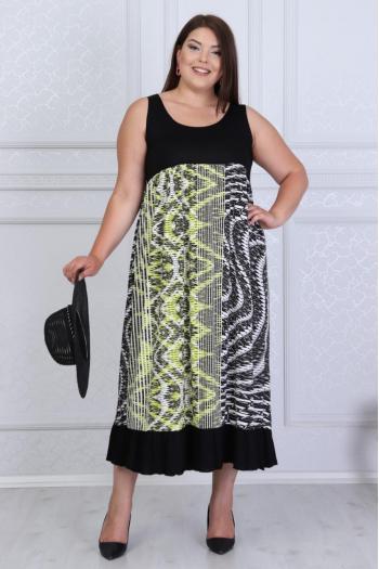 Макси рокля в красив принт /размери 2XL,3XL,4XL/ Модел: 366