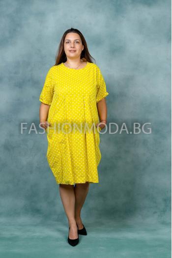 Лятна макси рокля на точки /Универсален размер/ Модел: 372