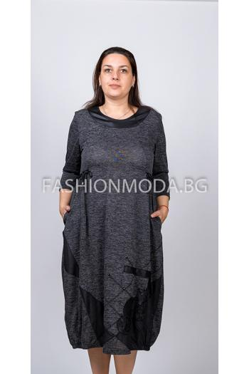 Дълга макси рокля в два цвята /размери 2XL,3XL/ Модел: 295