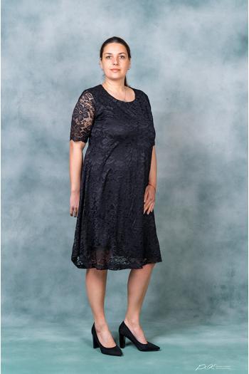 Дантелена макси рокля в три цвята /размери 4XL,5XL,6XL/ Модел: 319