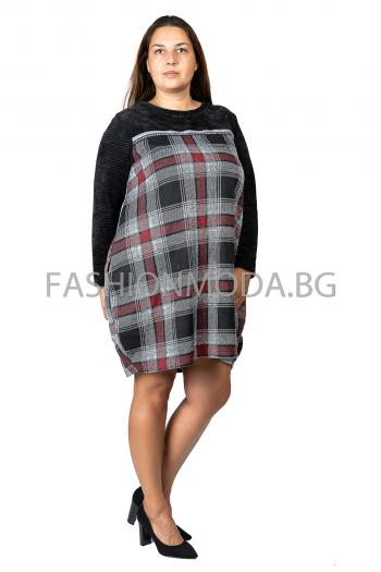 Ежедневна макси рокля тип балон /Универсален размер/